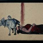 """""""O Descuido #12 - Se Vacilar o Jacaré Abraça"""", 2011, óleo sobre tela, 18x13 cm"""