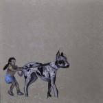 """Pelúcia #2"", 2012, óleo sobre tela, 100x100 cm"