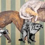 """""""Projeto Pós Fim do Mundo #5"""", 2013, óleo sobre tela, 400x200 cm"""