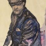 """Retrato #1"", 2011, óleo sobre tela, 100x80 cm"