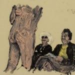 """""""Situações #2"""", 2011, óleo sobre tela, 20x20 cm"""