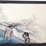 """""""Bundão na Piscina #1"""", 2011, óleo sobre tela, 18x13 cm"""