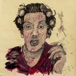 """""""Mulher de Almodóvar"""", 2011, óleo sobre tela, 30x30 cm"""