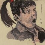 """""""Pai Meu Herói"""", 2011, óleo sobre tela, 20x20 cm"""
