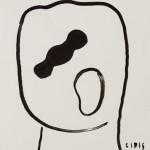 """""""Rosto 03"""", 2013, 42x29,5 cm, nanquim sobre papel"""