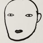 """""""Rosto 04"""", 2013, 42x29,5 cm, nanquim sobre papel"""