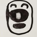 """""""Rosto 06"""", 2013, 42x29,5 cm, nanquim sobre papel"""