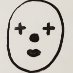 """""""Rosto 07"""", 2013, 42x29,5 cm, nanquim sobre papel"""