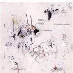 """""""Fake Doodles #04"""", 2011, grafite, aquarela, nanquim, pastel e lápis de cor sobre papel, 12x25 cm"""