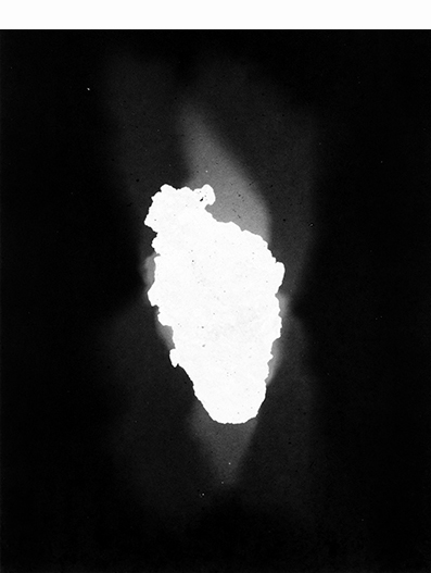 """Meteorito"", 2014, microfilme impresso sobre papael algodão, 5x(100x85) cm"