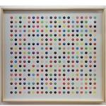 """""""Tomei Como Minhas Suas Bolas"""", 2012, impressão ink jet em papel de algodão, madeira e vidro, 82x82 cm"""