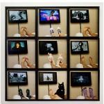 """""""Preguiça"""", 2012, impressão ink jet em papel de algodão, madeira e vidro, 9 fotos com 40x40 cm (cada), medida total 120x120 cm"""
