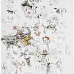 Sem titulo, 2013, grafite, aquarela, pastel, nanquim e guache e lápis de cor sobre papel, 58x76 cm