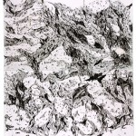 Sem titulo, 2013, grafite e carvão sobre papel, 112x140 cm