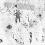 Sem título (detalhe), 2011, grafite, aquarela, guache e pastel sobre papel