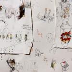 Sem título (detalhe), 2012, grafite, aquarela, guache, pastel e lápis de cor sobre papel