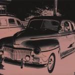 """""""Jogos Efêmeros 2"""", da série """"Carros"""", 2009, impressão ink jet, madeira e vidro, 62x82 cm"""