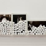 """""""Naftalina"""", 2012, impressão ink jet em papel de algodão, acrílico e naftalina, 17x100 cm"""