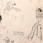 Sem título (detalhe), 2012, instalação de 87 desenhos sobre parede, dimensões variáveis