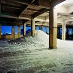 Sem título,1997, areia, 3 metros x 9 de diâmetro, foto de Nelson Kon