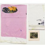 """""""Encontro de índios com viajantes europeus - marcação 1"""", 2013, acrílica, esmalte sintético sobre tela, caneta e impressão, 111x99x6 cm, edição: N/A"""