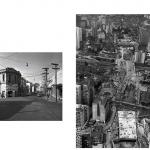 """""""A vida dos centros"""", 2011 – 2013, Inkjet print sobre papel algodão, montado sobre dibond e alumínio, instalação com 35 a 42 imagens, 35x42 cm (cada), medida total: 9 metros lineares, edição de 7+1 PA"""