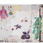 """""""Síntese entre Ideias Contraditórias e a Pluralidade do Objeto como Imagem"""", 2012, acrílica, esmalte sintético, lápis e caneta sobre tela e ferro, 260x495 cm, edição: N/A"""