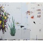 """""""Ciência Geral Entre Sistemas"""", 2012, acrílica, lápis, esmalte sintético e caneta sobre tela, 200x300 cm, edição: N/A"""