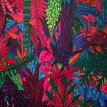 """""""Floresta Alegria"""", 2014, óleo e spray sobre tela, 160x200 cm"""