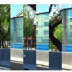 """""""Borderline # 17 (Santiago de Chile, direção norte-sul)"""", 2012, duas fotografias intercaladas, impressão giclée sobre papel de algodão, 110x165 cm"""