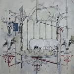 """""""Copia sem matriz"""", 2014, acrílica e carvão sobre lona, 147,5x149,3 cm"""