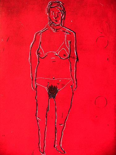 """""""Clarices"""", 2005, gravura em metal, 40x29 cm"""