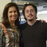 Lucrécia Vinhaes, coordenadora do PIPA, e Luís Gustavo Ferraz, da Matrioska Filmes