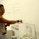 Camila Soato, finalista do PIPA em 2013, também esteve na abertura e votou o seu favorito