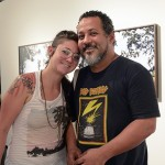 Camila Soato, artista, e Renato Silva, coordenador de produção da galeria Mendes Wood