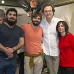 Os finalistas (da esquerda para a direita) Thiago, Daniel, Wagner e Alice