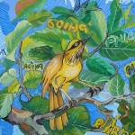 """""""Bem-te-vi II"""", 2008, óleo sobre tela, 59x65 cm"""