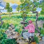 """""""Birdwatching"""", 2008, óleo sobre tela, 90x70 cm"""