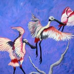 """""""Sobrevôo de Colhereiros"""", 2004, óleo sobre tela, 92x94 cm"""