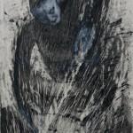 """""""Amolador"""", 2014, bastão de óleo e grafite em pó sobre papel, 76x56 cm"""