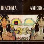 """""""Iracema/America"""", 2014, detalhe da instalação, intervenções na capa do livro Iracema, 15x20 cm"""