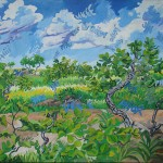 """""""Barulhismo no Cerrado"""", 2005, óleo sobre tela, 120x140 cm"""
