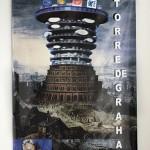 """Da série """"Sete Pecados"""", 2014, """"Torre de Babel"""", banner, 1mx80cm, foto de Ayrson Heráclito"""