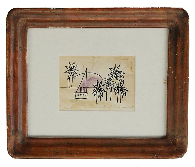 "Da série ""Projeto Tarsila"", 2011, tinta sobre papel, 23,5x28x4 cm"