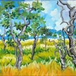 """""""Cerrado"""", 2008, óleo sobre tela, 40x100 cm"""