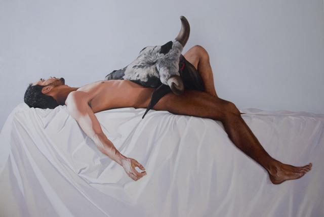 """""""Em Tempos de incertezas, o devaneio é a via de fuga"""", 2015, óleo sobre tela, 170x220 cm"""