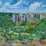 """""""Cidade Cerrado"""", 2004, óleo sobre tela, 134x290 cm"""