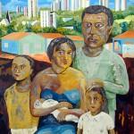 """""""Retrato de família"""", 2007, óleo sobre tela, 150x80 cm"""