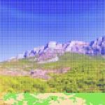 """""""After Cezanne 'Mont SainteVictoire'"""", da série """"Street View"""", 2011, impressão em metacrilato, 63x120 cm"""