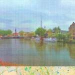 """""""After Vermeer 'View of Delft'"""" da série """"Street View"""", 2011, impressão em metacrilato, 63x120 cm"""